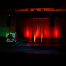 The Wurlitzer and stage decoration